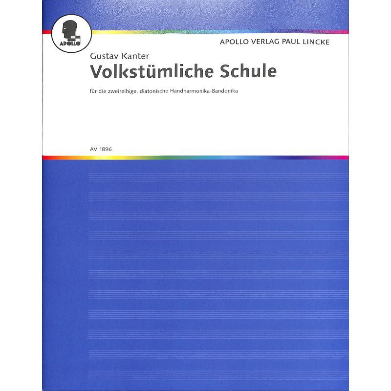 Titelbild für AV 1896 - VOLKSTUEMLICHE SCHULE FUER HANDHARMONIKA