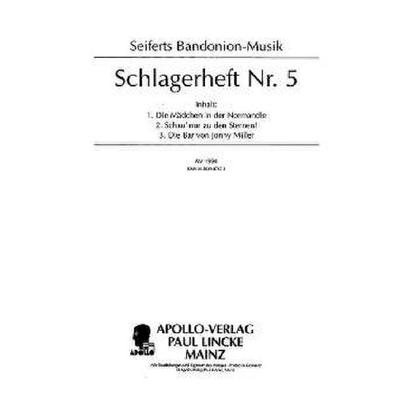 Titelbild für AV 1994 - BANDONEON SCHLAGERHEFT 5
