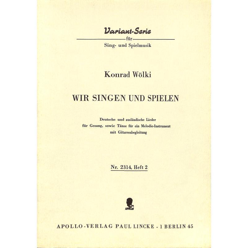 Titelbild für AV 2314 - WIR SINGEN UND SPIELEN 2