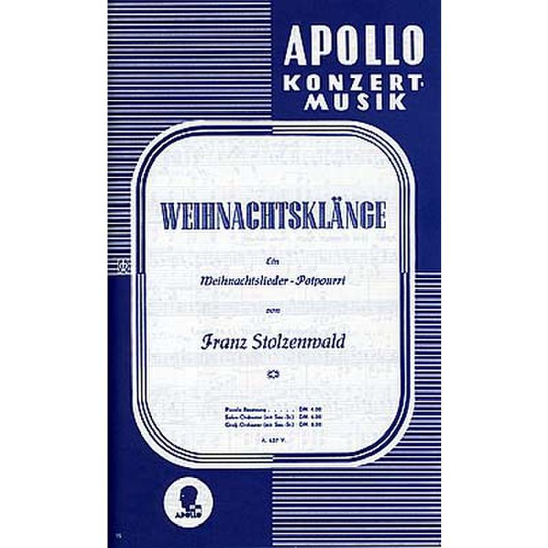Titelbild für AV 5637-30 - WEIHNACHTSKLAENGE POTPOURRI