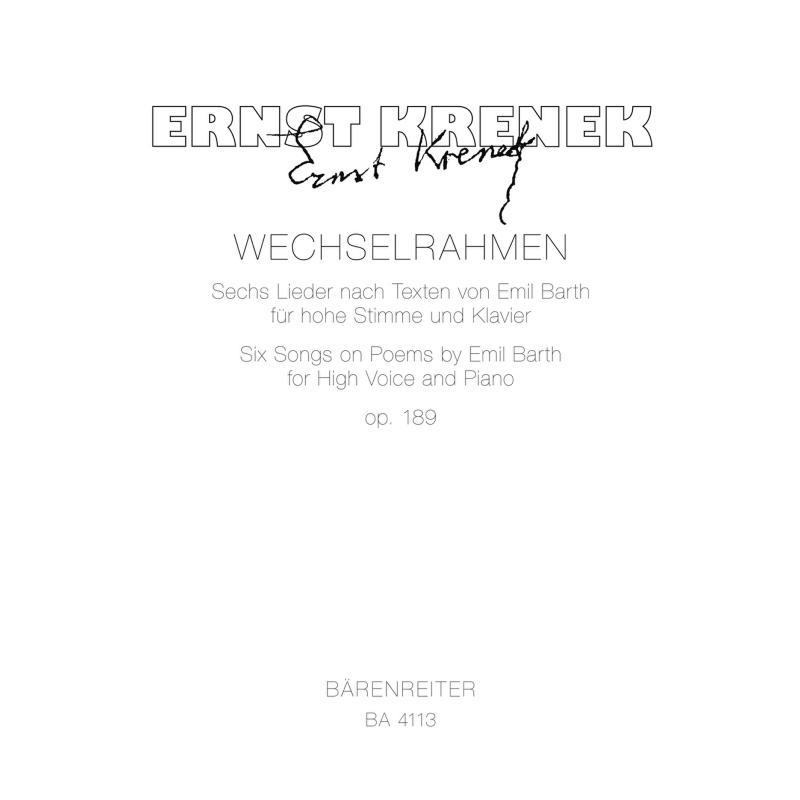 Titelbild für BA 4113 - WECHSELRAHMEN 6 LIEDER NACH EMIL BARTH OP 189