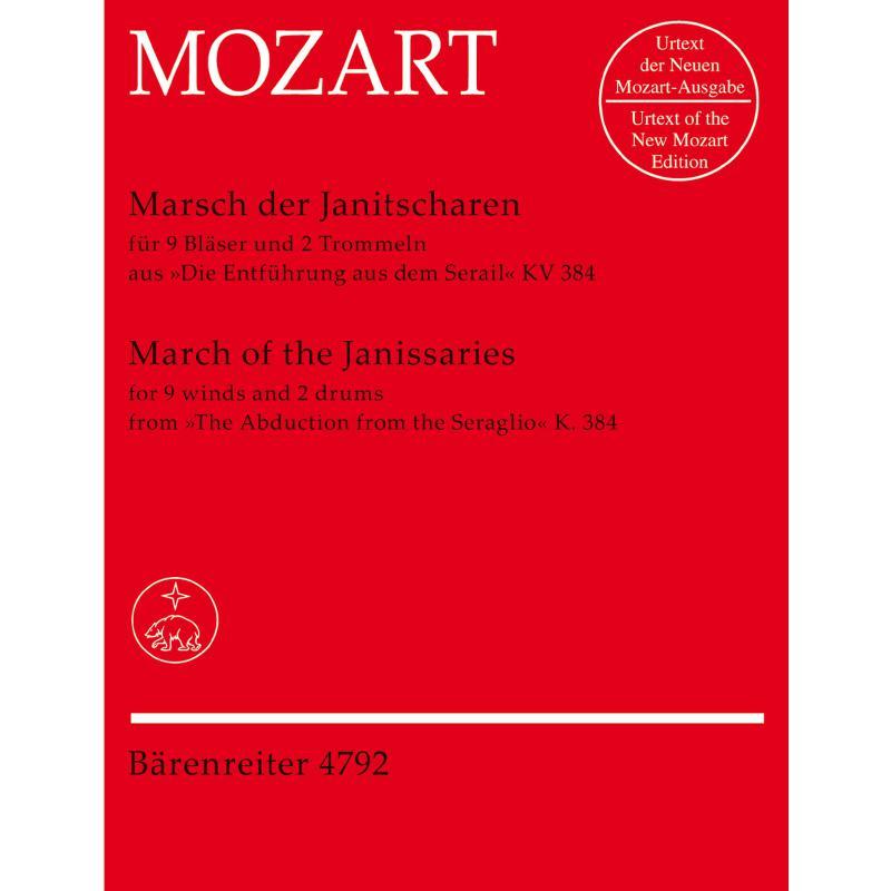 Titelbild für BA 4792 - MARSCH DER JANITSCHAREN (ENTFUE