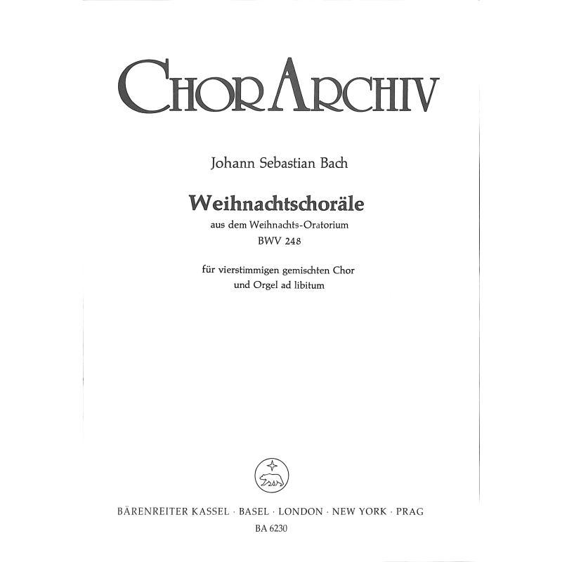 Titelbild für BA 6230 - WEIHNACHTSCHORAELE