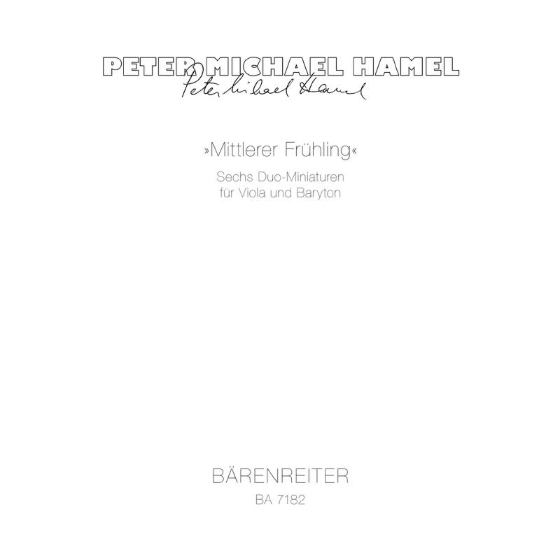 Titelbild für BA 7182 - MITTLERER FRUEHLING SECHS MINI