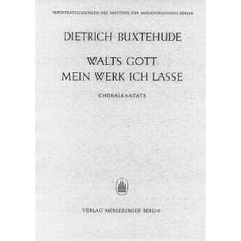 Titelbild für MERS 953 - WALTS GOTT MEIN WERK ICH LASSE BUXWV 103
