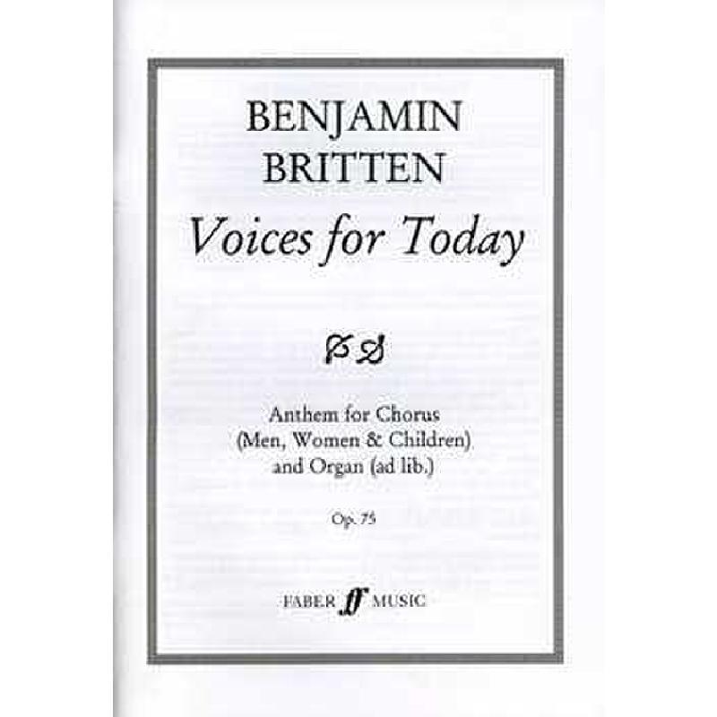 Titelbild für ISBN 0-571-50020-X - VOICES FOR TODAY OP 75 (1965)