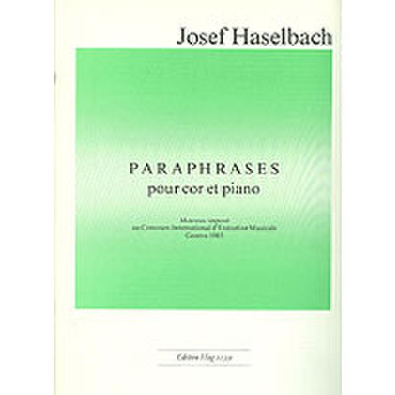 Titelbild für GH 11330 - PARAPHRASES (1985)