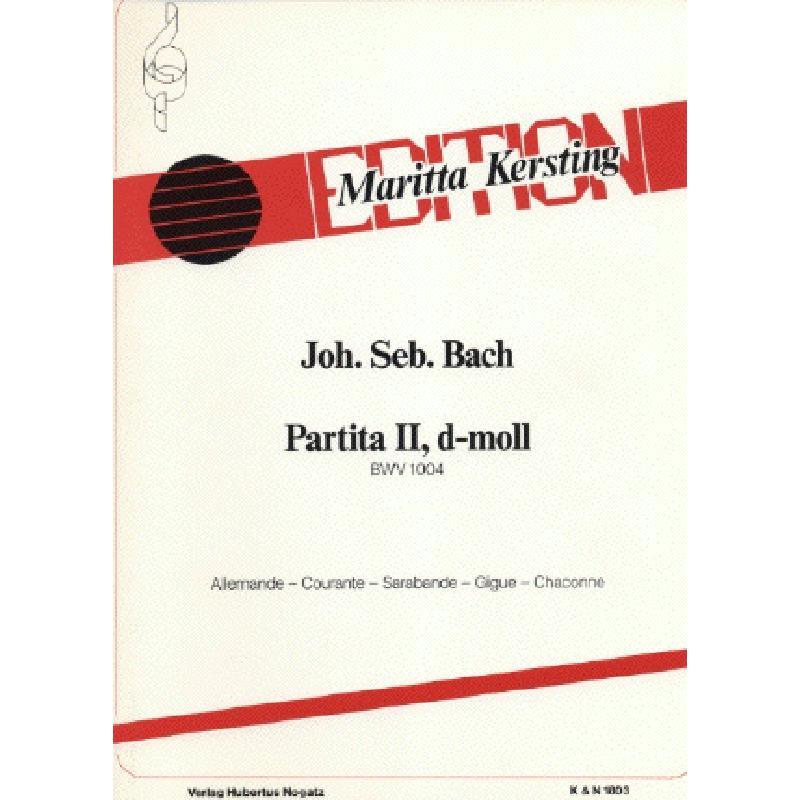 Titelbild für KN 1803 - PARTITA 2 D-MOLL BWV 1004