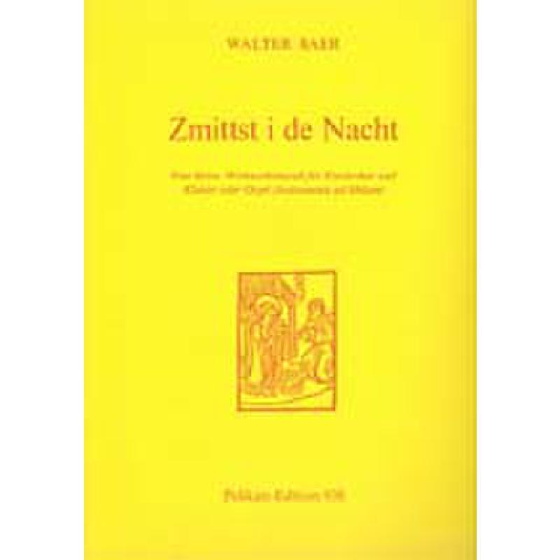 Titelbild für PE 938 - ZMITTST I DE NACHT - KLEINE WEIHNACHTSLIEDER