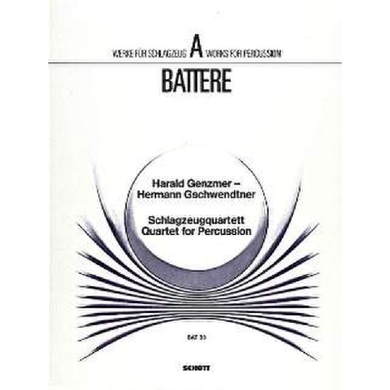 Titelbild für BAT 33 - SCHLAGZEUGQUARTETT