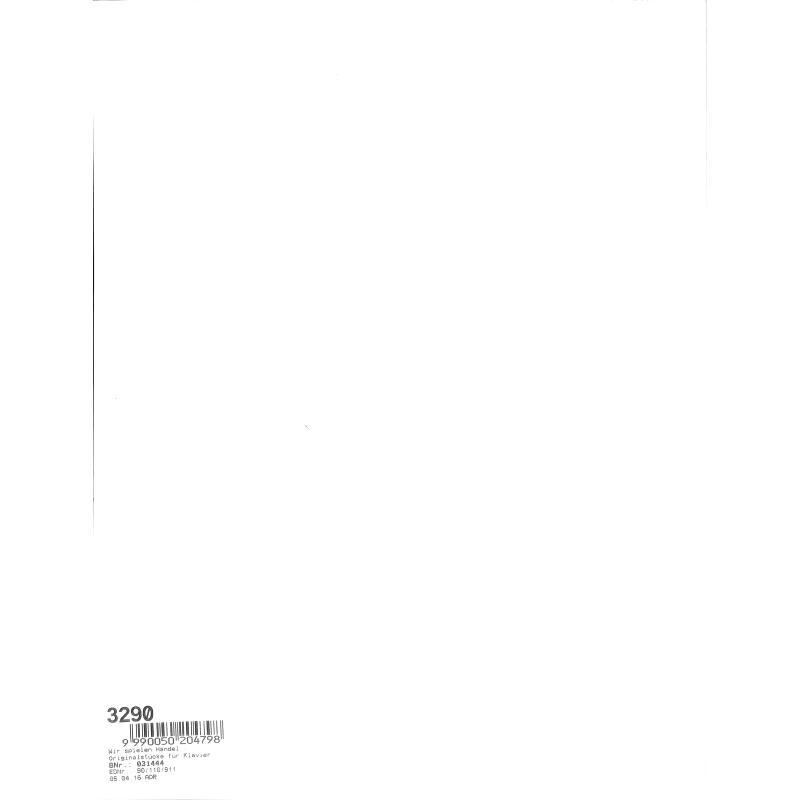 Notenbild für BB 11 - WIR SPIELEN HAENDEL