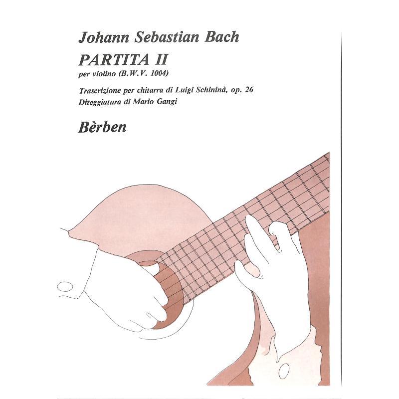 Titelbild für BE 1696 - PARTITA 2 D-MOLL BWV 1004