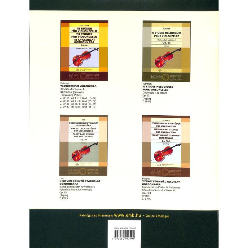 Notenbild für EMB 5240 - VIOLONCELLO SCHULE 2