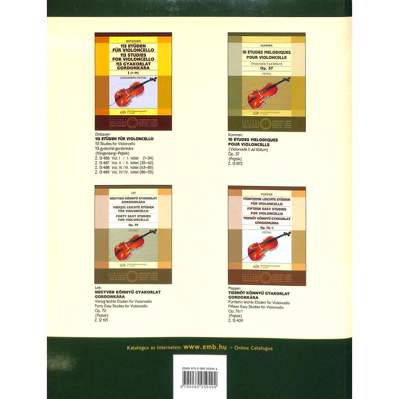 Notenbild für EMB 5949 - VIOLONCELLO SCHULE 4