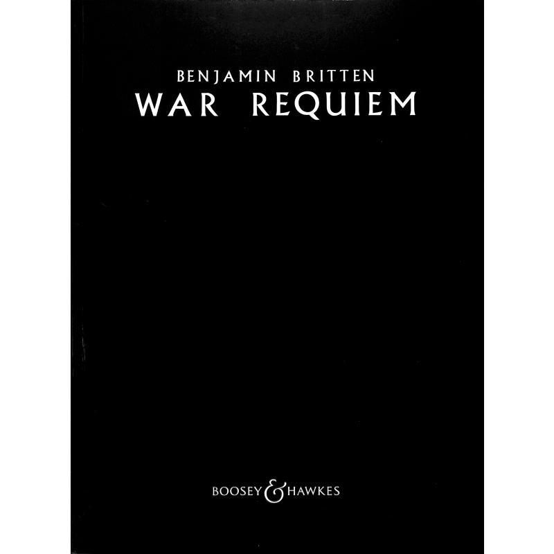 Titelbild für BH 5500012 - WAR REQUIEM OP 66