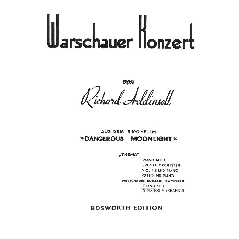Titelbild für BOE 3579 - WARSCHAUER KONZERT CPLT