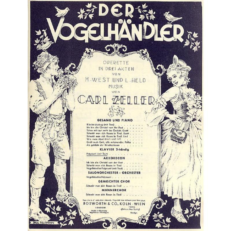 Titelbild für BOE 3825 - VOGELHAENDLER POTPOURRI