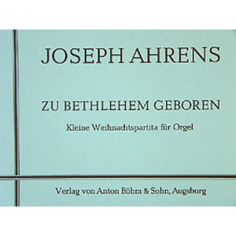 Titelbild für BOEHM 8673 - ZU BETHLEHEM GEBOREN