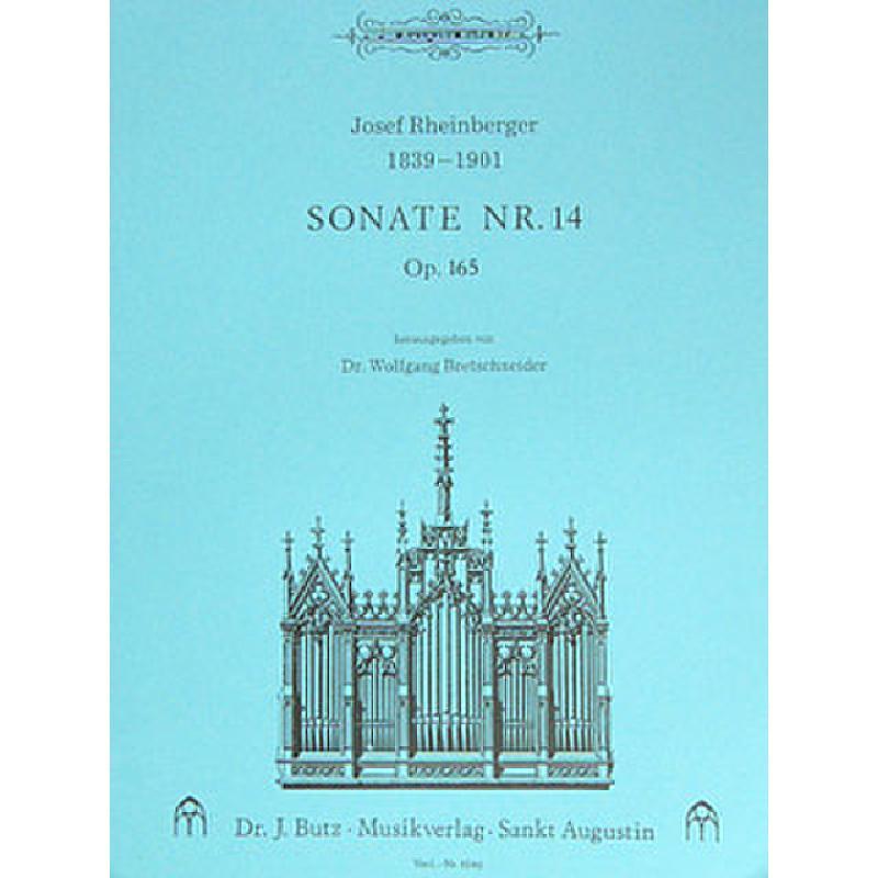 Titelbild für BUTZ 1040 - SONATE 14 C-DUR OP 165