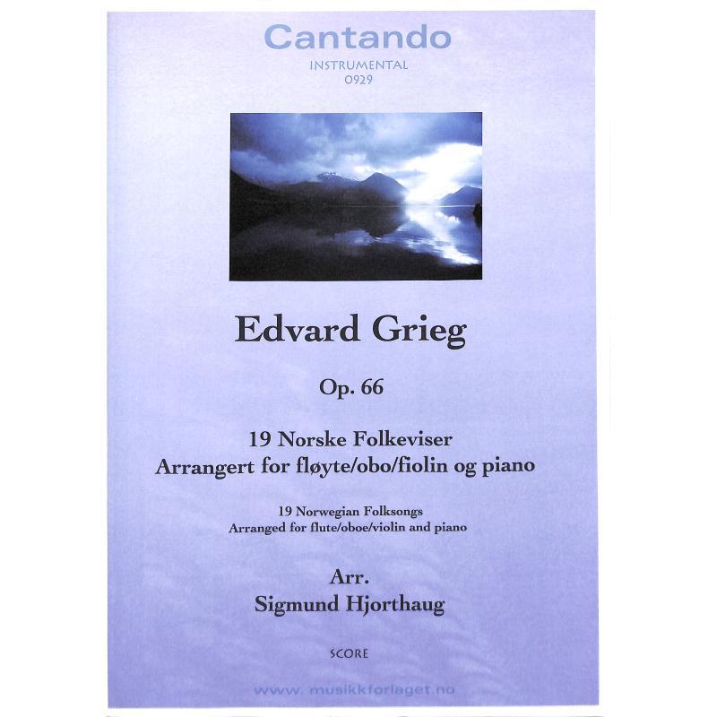 Titelbild für CANTANDO -C0929 - 19 NORSK FOLKEVISER OP 66
