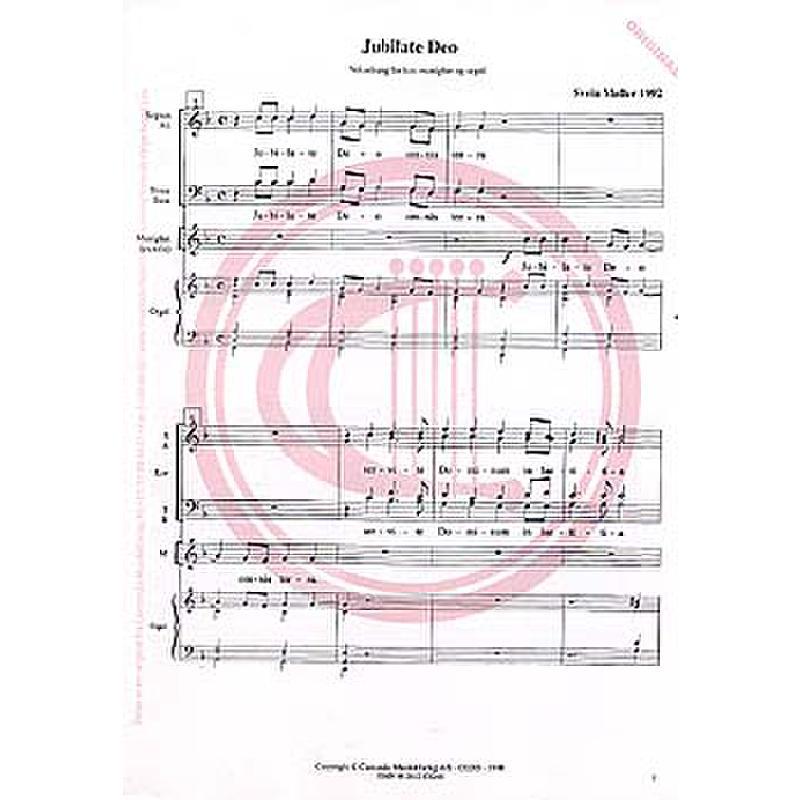 Titelbild für CANTANDO -C0265 - JUBILATE DEO