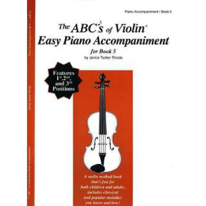 Titelbild für CF -ABC22 - ABC OF VIOLIN 5 - EASY PIANO AC