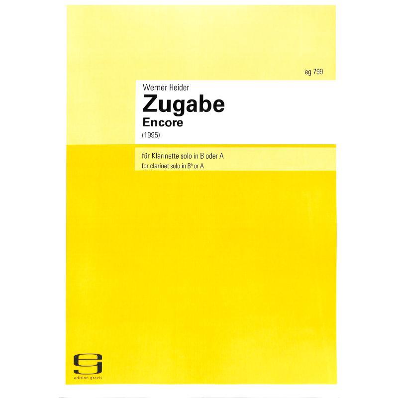 Titelbild für EG 799 - ZUGABE - ENCORE