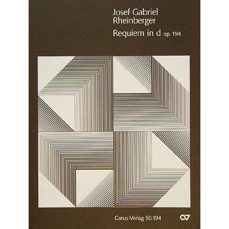 Titelbild für CARUS 50194-01 - REQUIEM D-MOLL OP 194