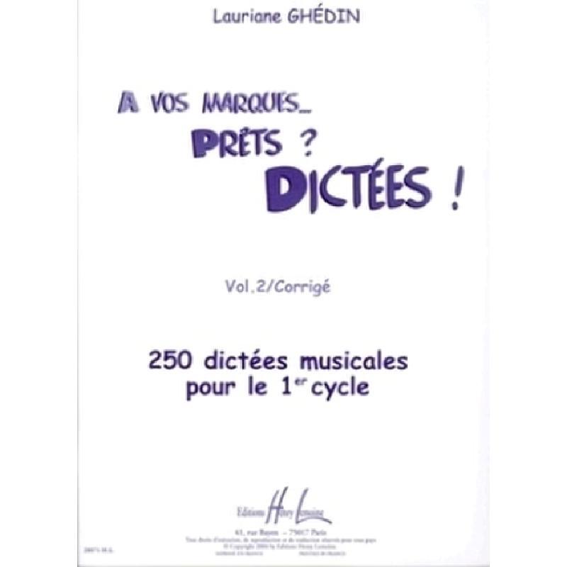 Titelbild für LEMOINE 28071 - A VOS MARQUES VOL 2 CORRIGE