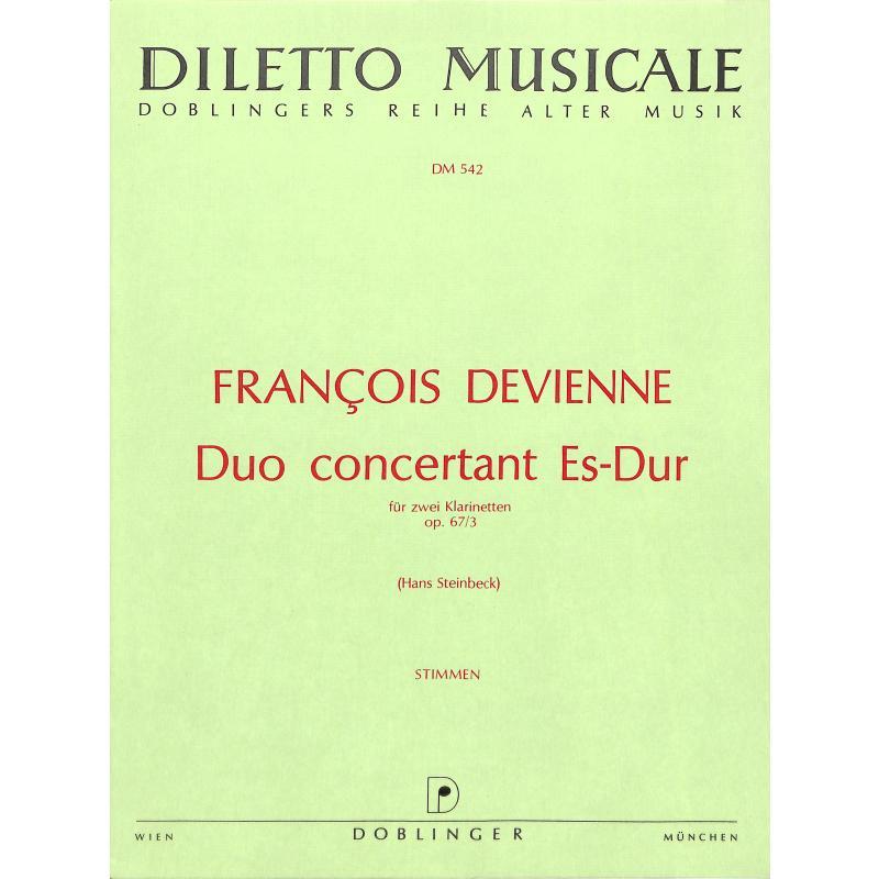 Titelbild für DM 542 - DUO CONCERTANT ES-DUR OP 67/3