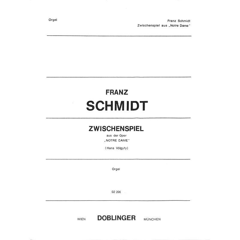 Titelbild für DO 02206 - ZWISCHENSPIEL (NOTRE DAME)
