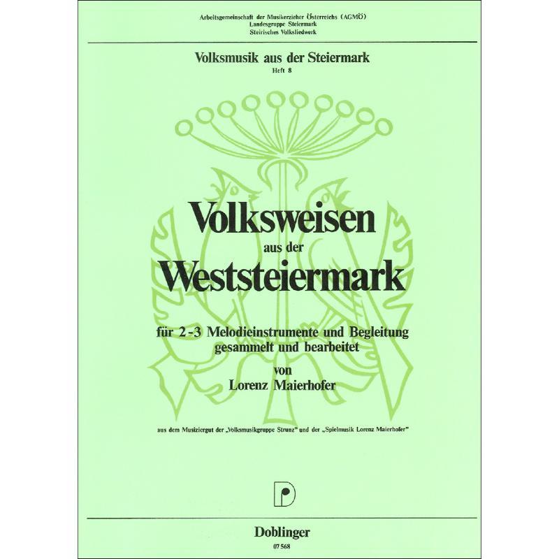 Titelbild für DO 07568 - VOLKSWEISEN AUS DER WESTSTEIERMARK