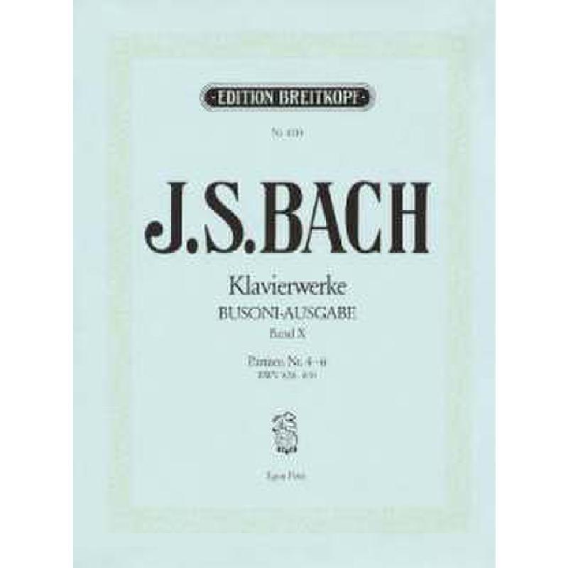 Titelbild für EB 4310 - PARTITEN 4-6 BWV 828-830