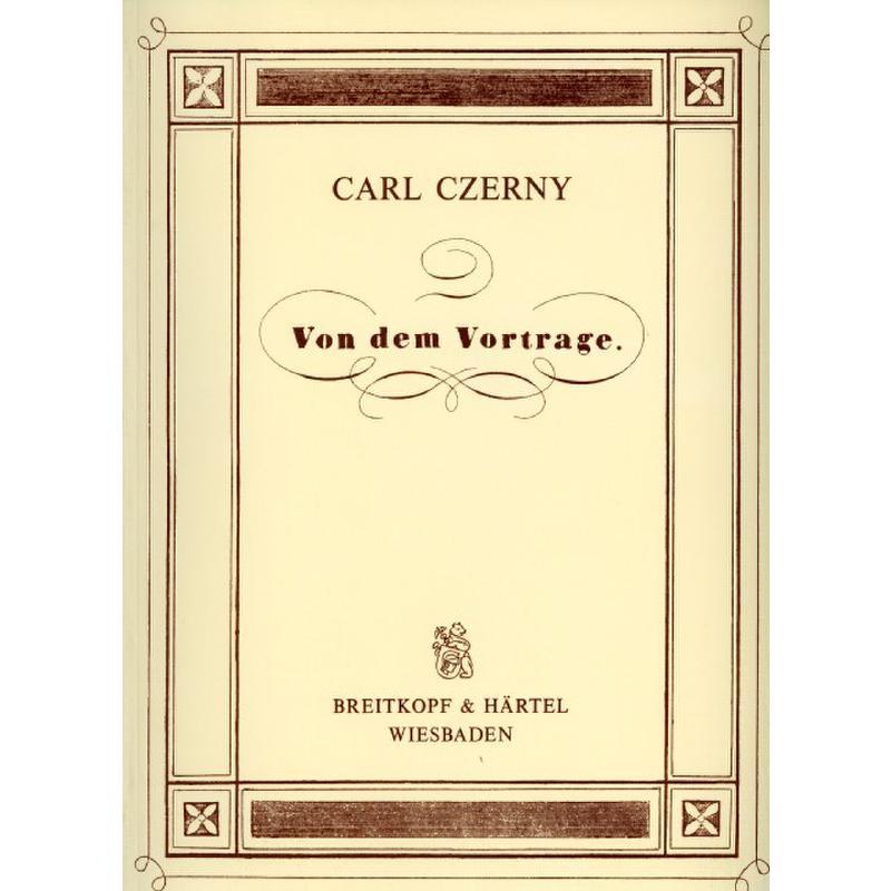 Titelbild für EBBV 243 - VON DEM VORTRAGE - KLAVIERSCHULE REPRINT