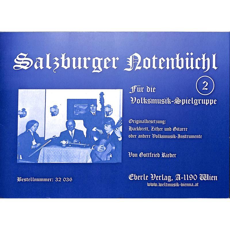 Titelbild für EBERLE 32036 - SALZBURGER NOTENBUECHL 2
