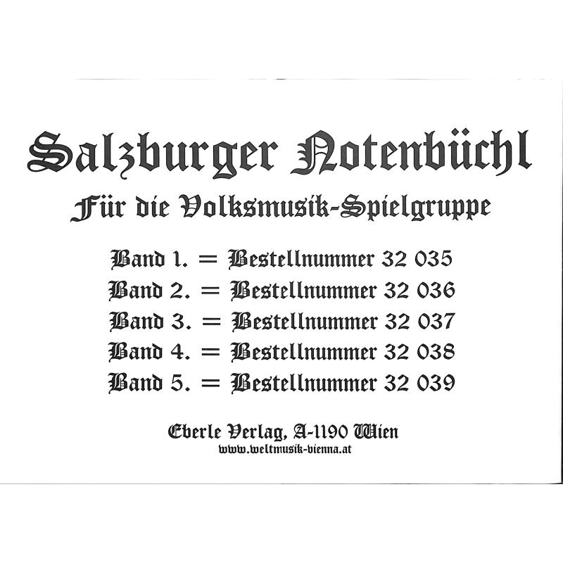 Notenbild für EBERLE 32036 - SALZBURGER NOTENBUECHL 2
