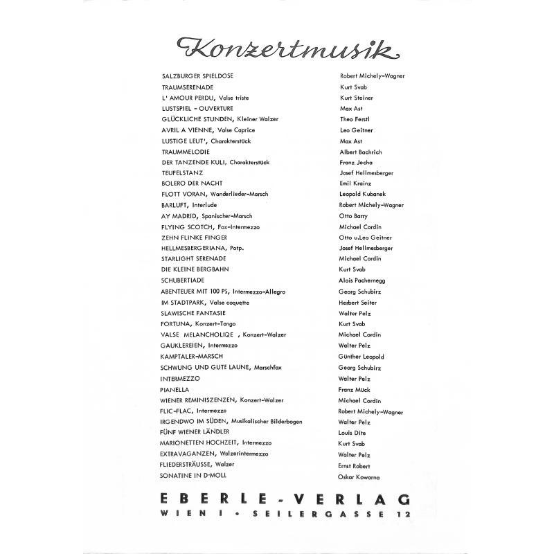 Notenbild für EBERLE 4584 - ABER HEITSCHI BUMBEIDSCHI