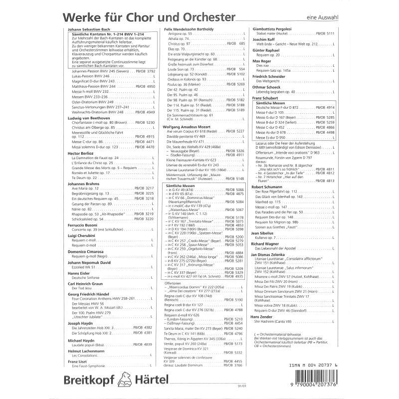 Notenbild für EBPB 4949 - WEIHNACHTSORATORIUM BWV 248