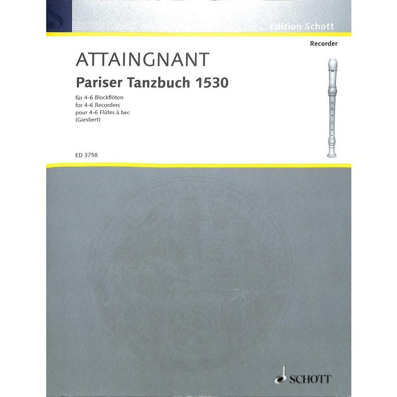 Titelbild für ED 3758 - PARISER TANZBUCH (1530) 1