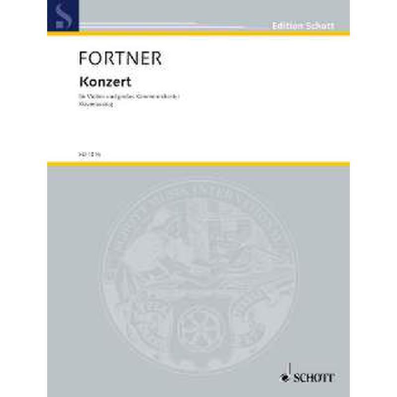 Titelbild für ED 4045 - KONZERT (1946) - VL ORCH