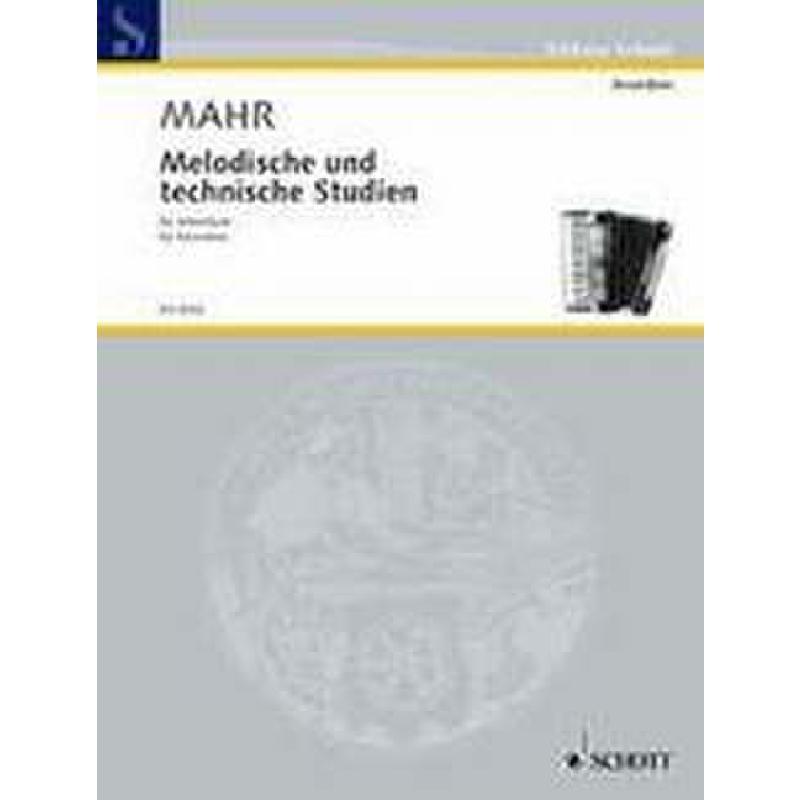 Titelbild für ED 4703 - MELODISCHE + TECHNISCHE STUDIEN