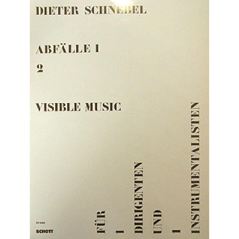 Titelbild für ED 6484 - VISIBLE MUSIC (AUS ABFAELLE 1/2)