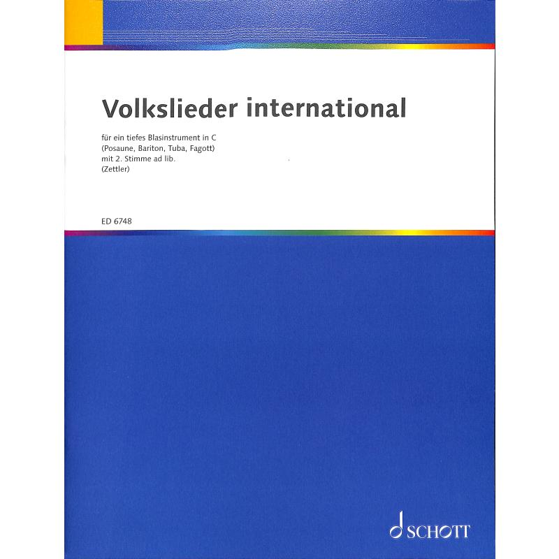 Titelbild für ED 6748 - VOLKSLIEDER INTERNATIONAL