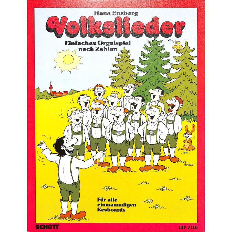 Titelbild für ED 7116 - VOLKSLIEDER (EINFACHES ORGELSPIEL NACH