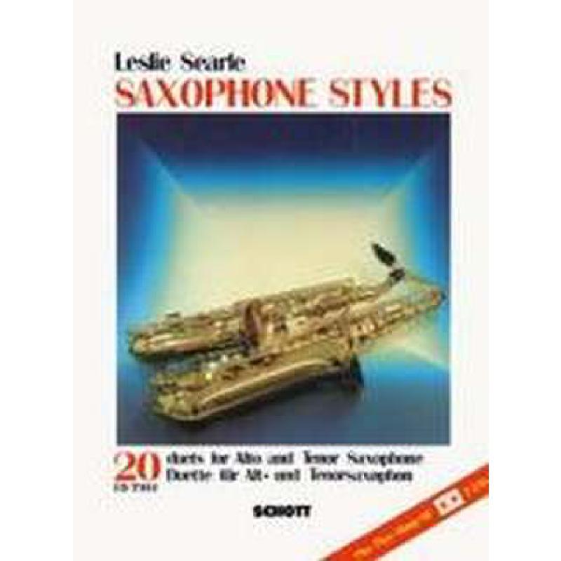 Titelbild für ED 7393-01 - SAXOPHONE STYLES - 20 DUETTE