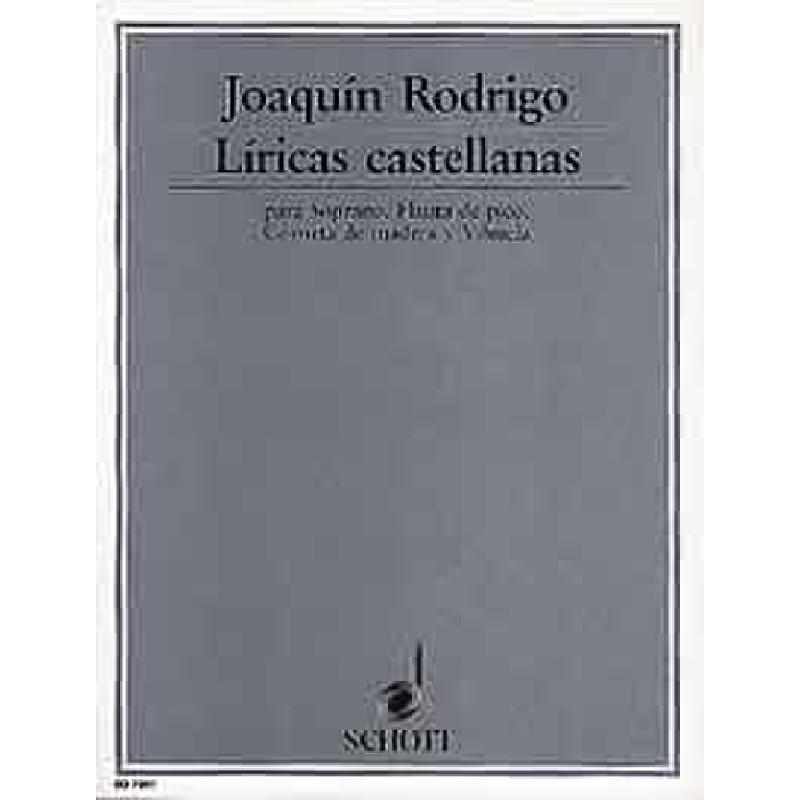 Titelbild für ED 7597 - LIRICAS CASTELLANAS