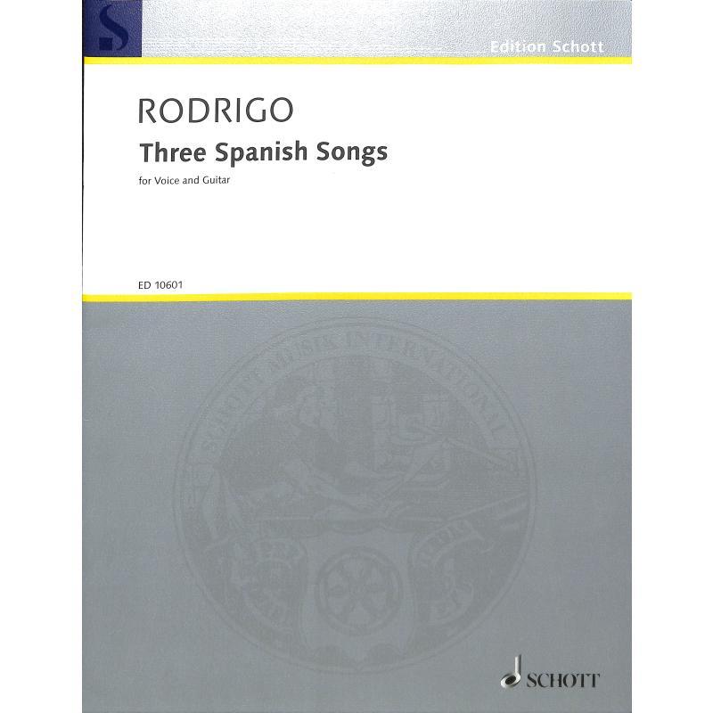 Titelbild für ED 10601 - 3 SPANISH SONGS