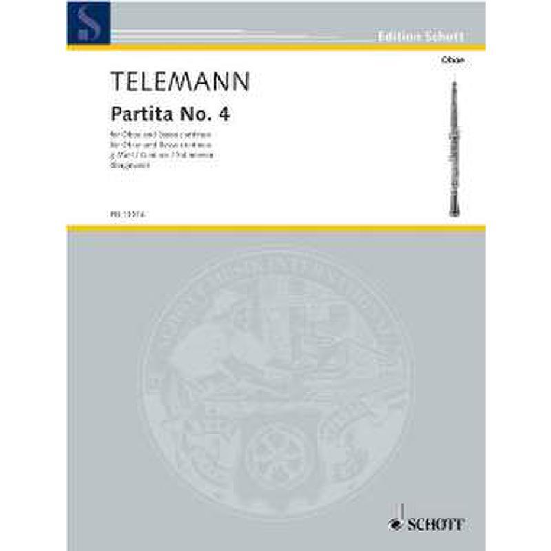 Titelbild für ED 11016 - PARTITA 4 G-MOLL