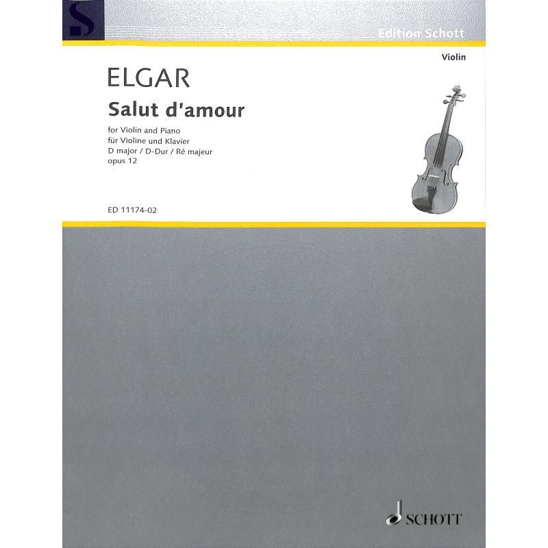 Titelbild für ED 11174-02 - SALUT D'AMOUR D-DUR OP 12/3
