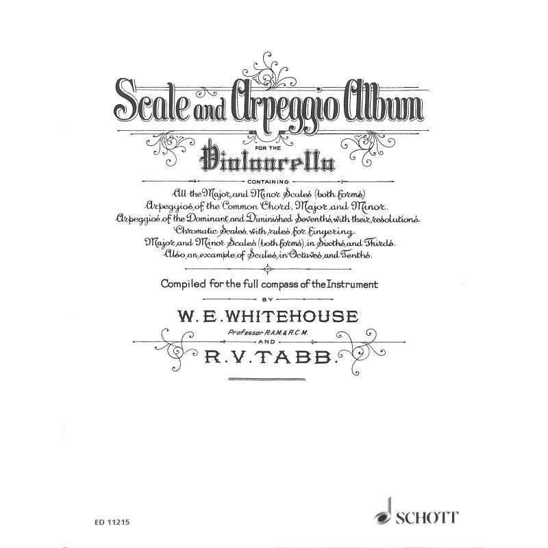 Titelbild für ED 11215 - SCALE + ARPEGGIO ALBUM